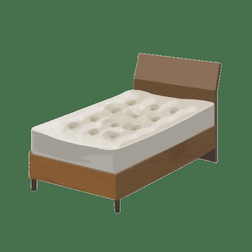 ベッドとマッドレス